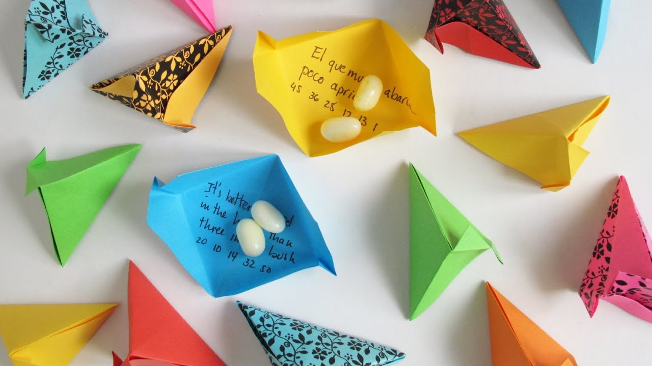 Origami Fortune Pouch - Cajita de la Fortuna - YouTube - photo#8