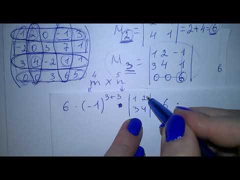 Метод окаймляющих миноров. Найти ранг матрицы. Пример ...
