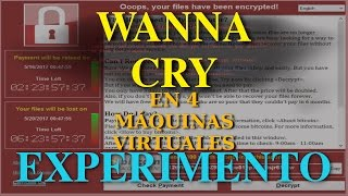 Experimento RansomWare Wanna Cry en 4 máquinas Virtuales Infectadas