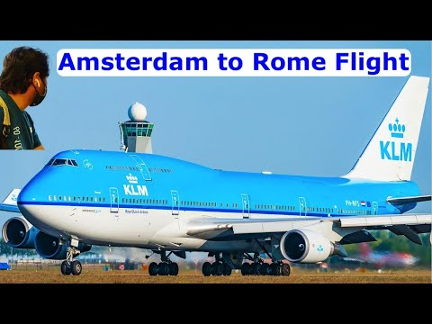 Amsterdam to Rome flight with Research Traveller   Amsterdam Schiphol Airport to Rome Fiumicino