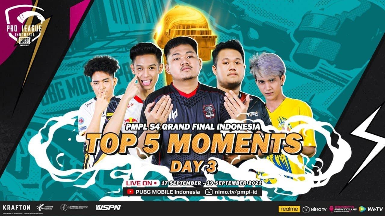 GRAND FINAL DAY 3 - FULL OF DRAMA🎥🎥 | TOP 5 MOMENTS | PMPL ID S4