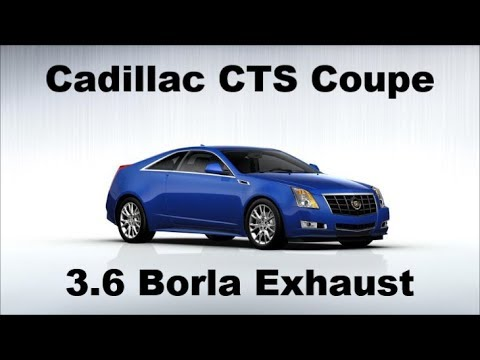 2012 Cadillac Cts Coupe 3 6 V6 Borla Exhaust Before After