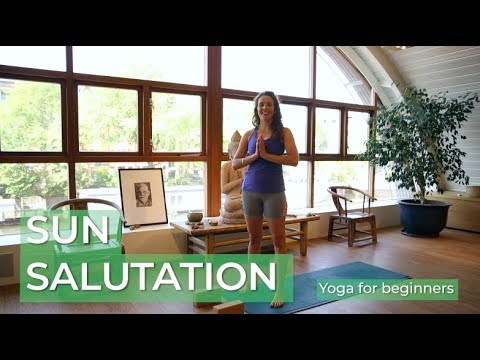 yoga for beginners  sun salutation 18 minutes