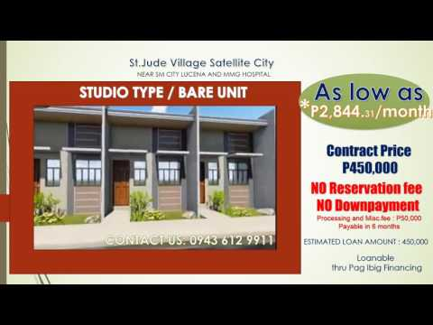 Studio type/Bare unit house and lot at st.jude village near SM Lucena
