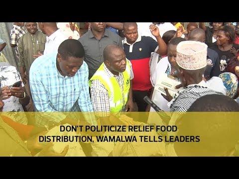 Don't politicize relief food distribution, Wamalwa tells leaders