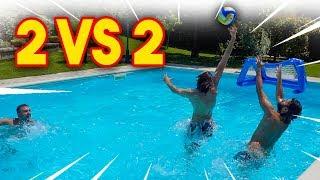🏊♂️⚽ 2 vs 2 IN PISCINA! w/ FIUS GAMER, ENRY LAZZA e TATINO23