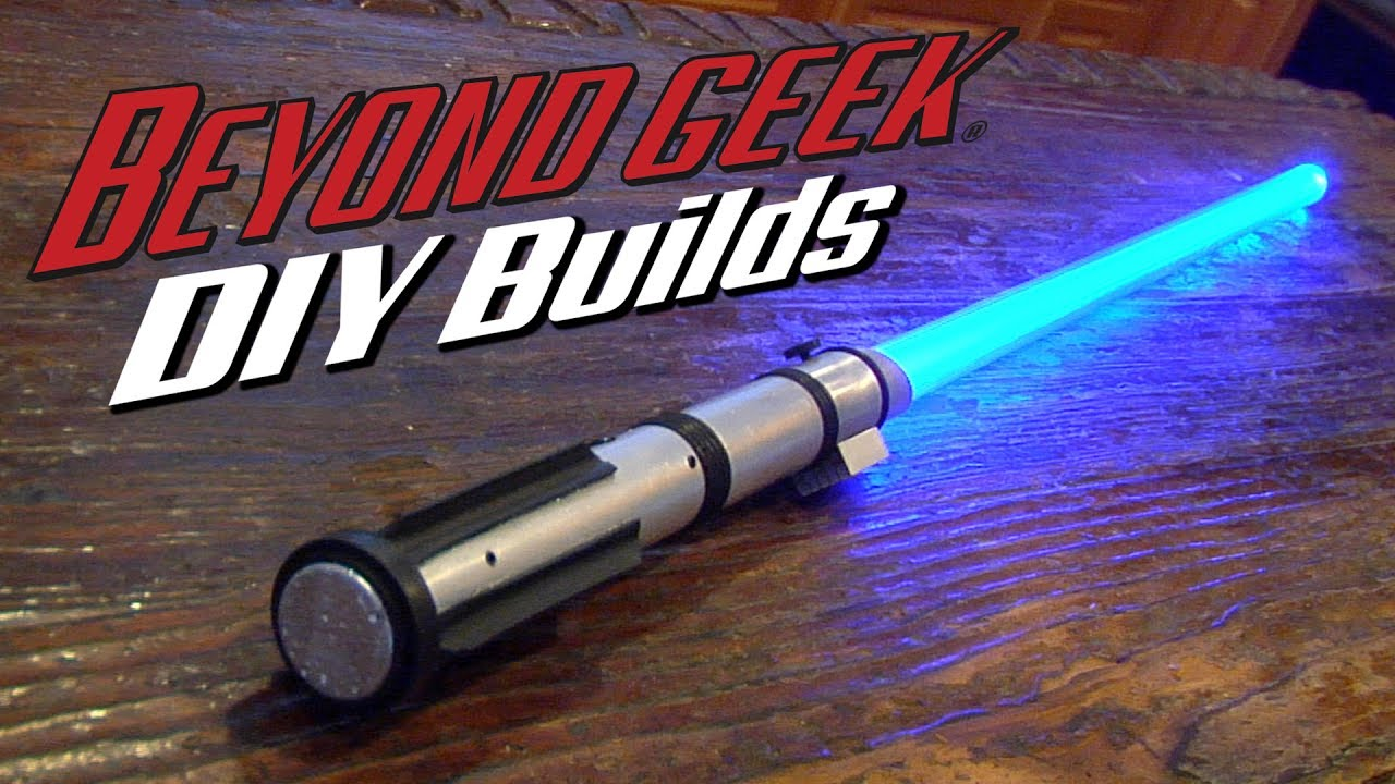 Make Your Own Combat Ready Lightsaber - Beyond Geek DIY Builds - YouTube