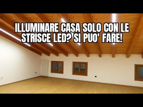 Strisce Luci A Led Per Interni.Illuminare Casa Solo Con Le Strisce Led Si Puo Fare Youtube