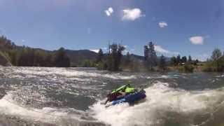 River and Bryan Surfing the Atomic 4 at Rodeo