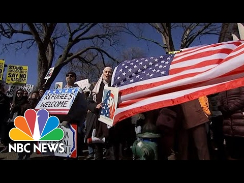 Marchers Around the World Gather to Protest Trump Again | NBC News