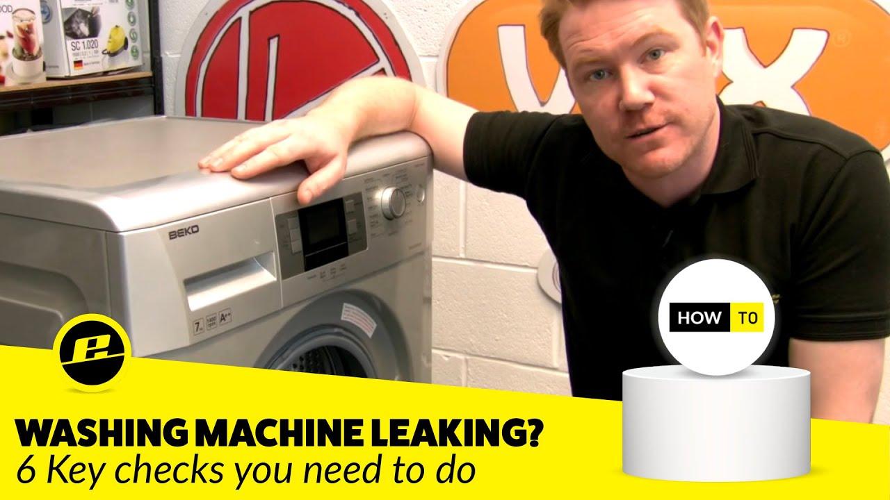 Water Leaks On A Washing Machine