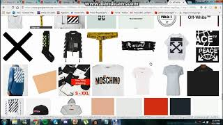 Roblox Designing off White shirt