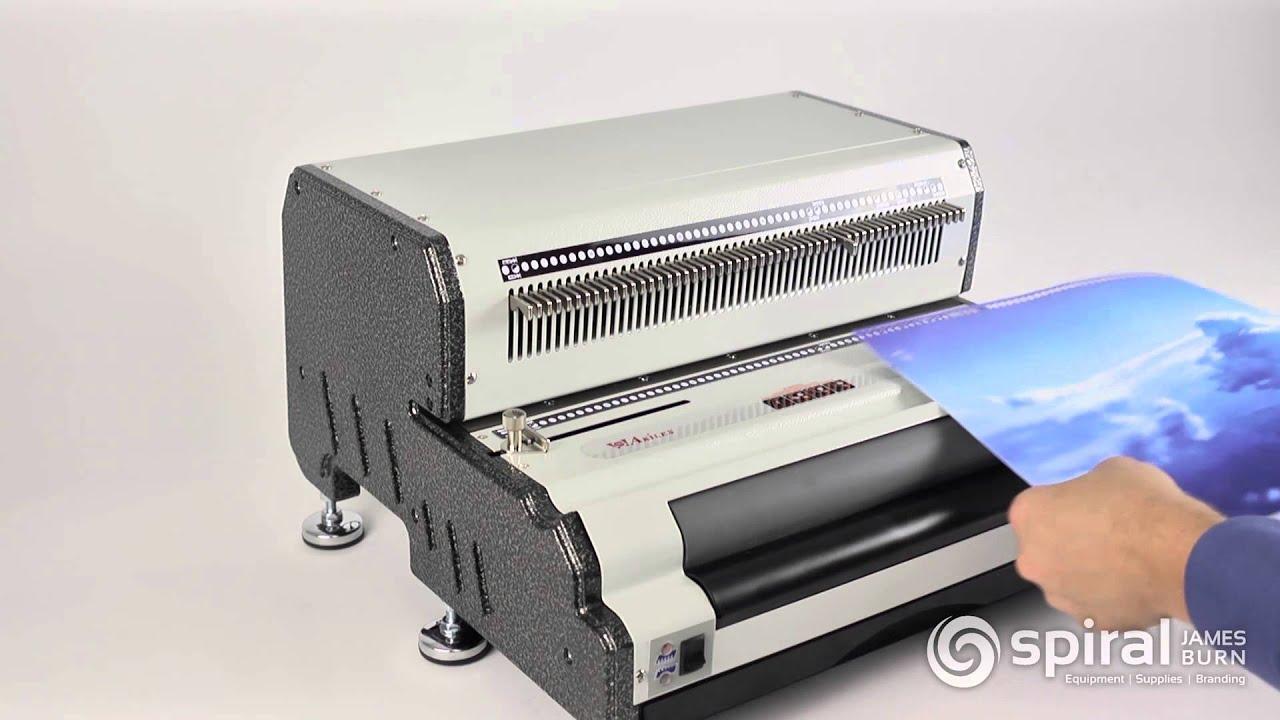 Akiles CoilMac EPI PLUS Coil Binding Machine - YouTube