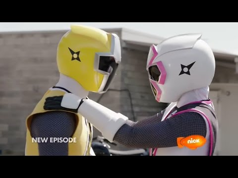 "Power Rangers Ninja Steel Episode 5 ""Drive to Survive"" - Power Rangers vs Tangleweb Morph and Fight"