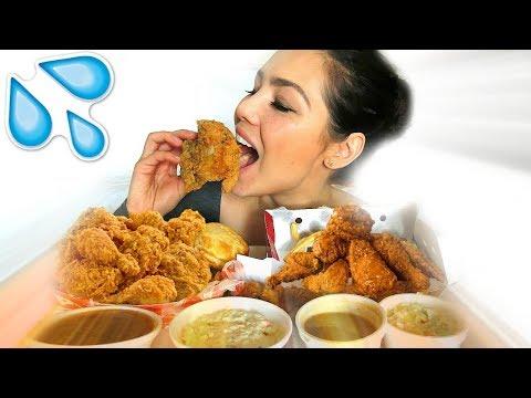KFC VS POPEYES MUKBANG 먹방 EATING SHOW