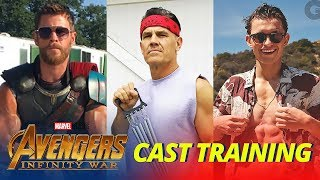 Avengers: Infinity War Cast TRAINING WORKOUT - Part 1