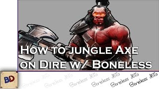 Dota 2 How To Jungle Axe (Dire) | 3:24 LEVEL 6 | FAST BLINK DAGGER (8:26)