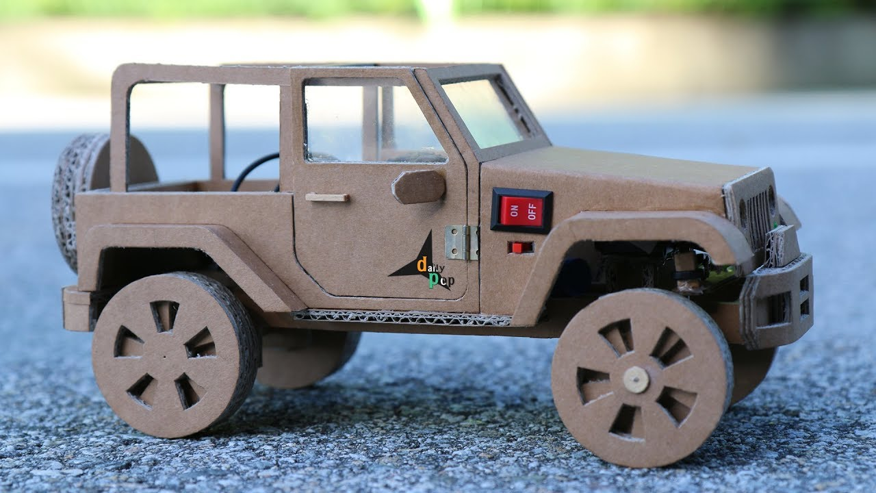 How To Make RC Car(Jeep Wrangler) Amazing Cardboard Car