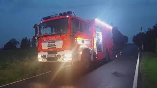 [KATASTROPHENALARM IN LEICHLINGEN] Großeinsatz für Feuerwehr und THW nach Unwetter