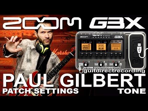 ZOOM G3 PAUL GILBERT tone MARSHALL Simulation DISTORTION G1on, G5 [USB].