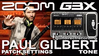Download Video ZOOM G3 PAUL GILBERT tone MARSHALL Simulation DISTORTION G1on, G5 [USB]. MP3 3GP MP4