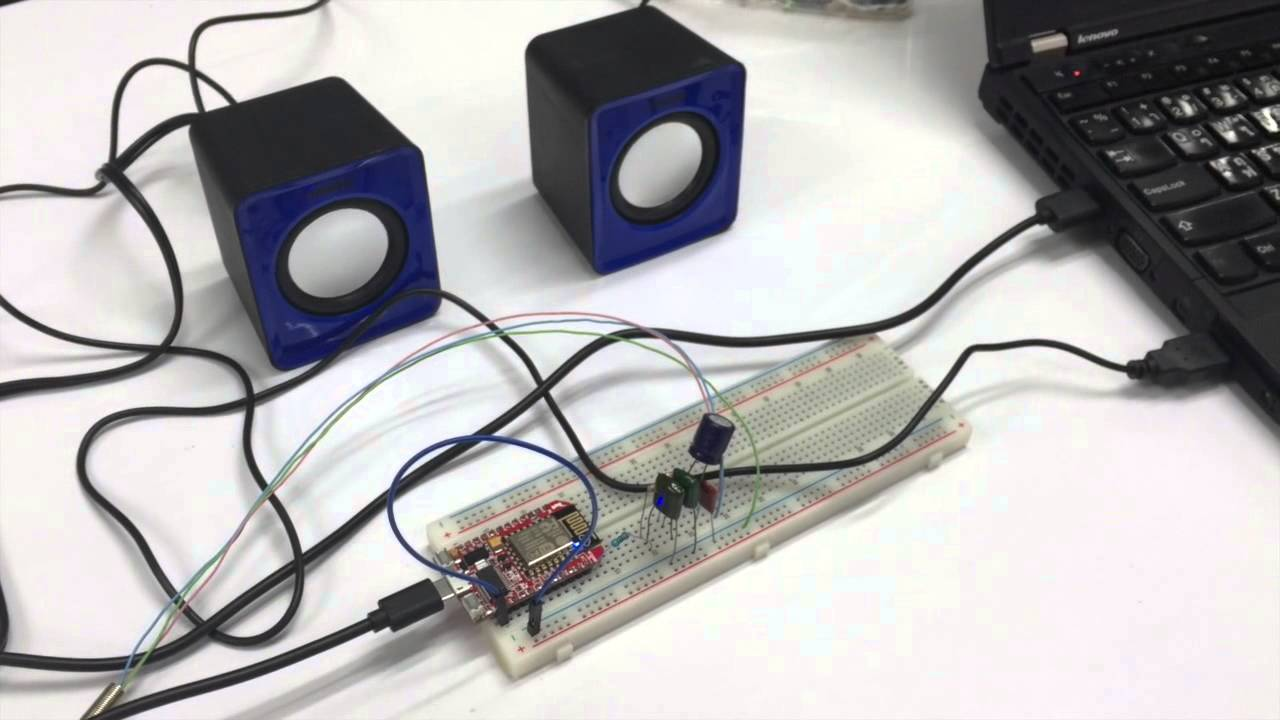 Esp8266 Mp3 Streaming Pwm For Audio Speaker Youtube