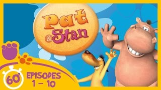 Pat and Stan |  Full Episodes 1 - 10 (60 Minutes Compilation) | Cartoons for Children