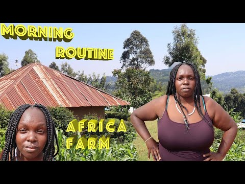 SINCE MOVING THIS IS MY MORNING ROUTINE,HOUSE CLEANING,COOK WITH ME!LIFE IN A FARM IN AFRICA
