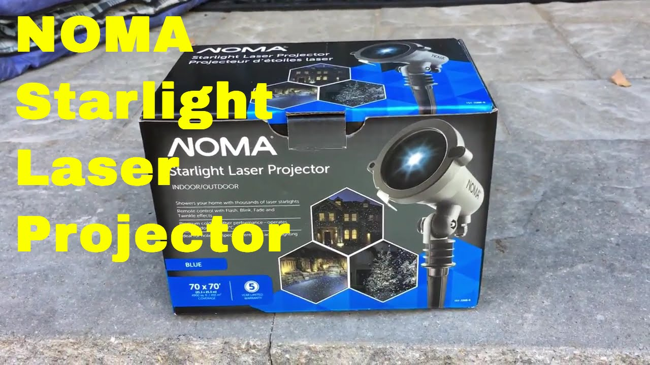Noma Starlight Laser Projector - YouTube
