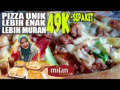 Kuliner Unik !! Makan Aneka Pizza Yang Enak, Murah Dan Mewah Di Milan Pizzeria Cafe
