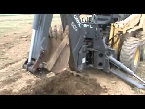 Bradco 609 Gehl Skid Steer Backhoe Attachment For Skid