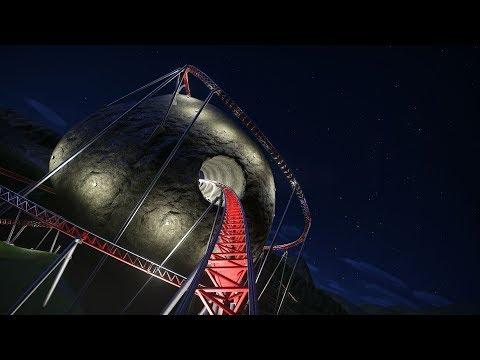 Planet Coaster: The Big Stones RollerCoaster POV night