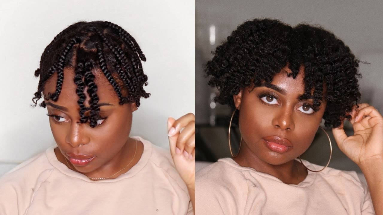 How To The Perfect Braid Out On Short Natural 4b 4c Hair Gloria Ann Youtube
