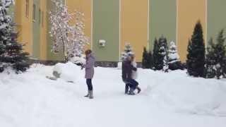 Прогибом в снег) Винница, пед универ)
