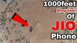 क्या हुआ जब हमने jio phone को 1000 फीट से गिराया - 1000feet drop test of jio phone