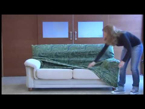 Como montar la funda elastica para el sofa youtube - Fundas elasticas para sofa ...