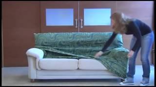 como montar la funda elastica para el sofa