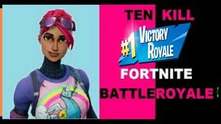 Fortnite Br|10 kill game|Broken controller|Ps4