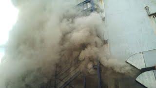 Fire in city centre mall Mangalore #city #center #mangalore