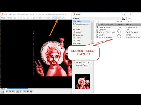 Come creare playlist m3u audio e video con VLC.
