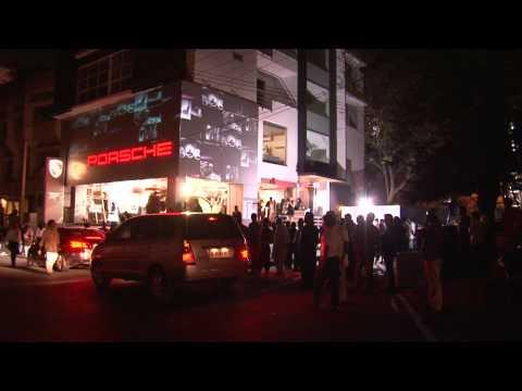 Porsche Centre Bangalore Launch Dec 2011 - Wall Projection