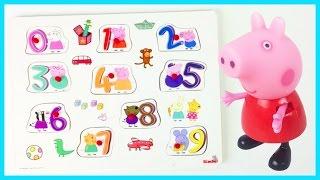 peppa pig nummer 0 9 puzzel klok kijken number puzzle clock nmeros reloj