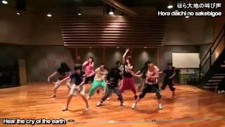 Morning Musume - Wakuteka Take a chance (English Subtitles) - Dance rehearsal