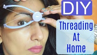 DIY Facial Hair Threading At Home | Slique Hair Threading System| Review+Demo