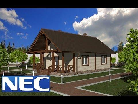 видео: Дачный домик 6х8 с террасой.( Часть 1.)