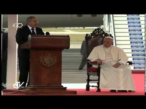 Accueil du Pape François à Cuba