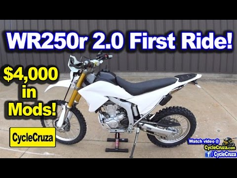 WR250r 2.0 First Ride! $4,000 in Mods Worth it?   MotoVlog