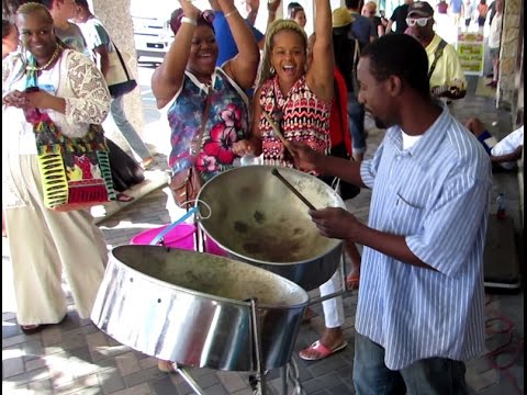 Calypso Steel Drum in caribbean island of Nassau - Bahamas