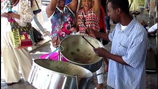 Calypso Steel Drum in caribbean island of Nassau - Bahamas