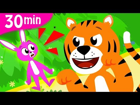 Can You Hunt Like A Tiger? | Tiger Boo Boo Dance | Down In The Jungle Animals Songs By Little Angel